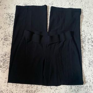 Eileen Fisher wide leg pants black casual small
